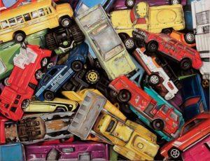 piles of hot wheel vehicles