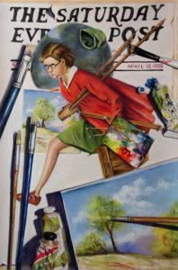 saturday evening post cover and a painting