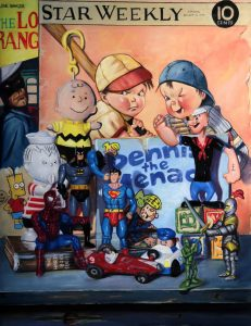 comic book and cartoon characters of boys and superheros