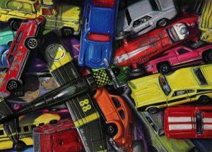 hot wheel cars with crashing toy plane