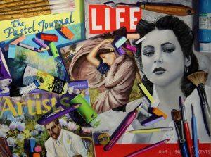 "Inspiring the Artist's Life - Pastel - 18""x24"""