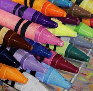 crayola crayons painting